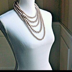 Designer Faux Pearl Necklace